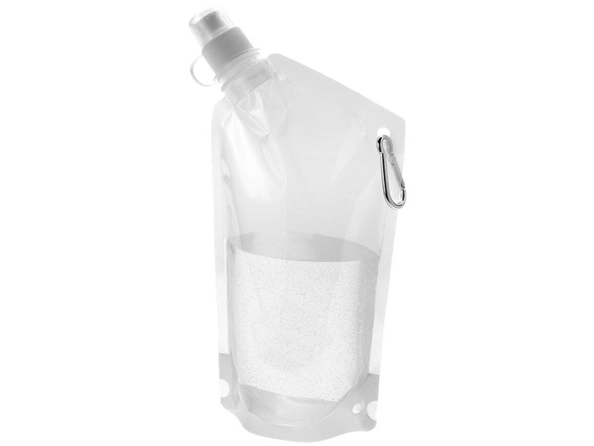 Cabo 600 ml Wasserbeutel mit Karabiner, transparent klar bedrucken, Art.-Nr. 10025003