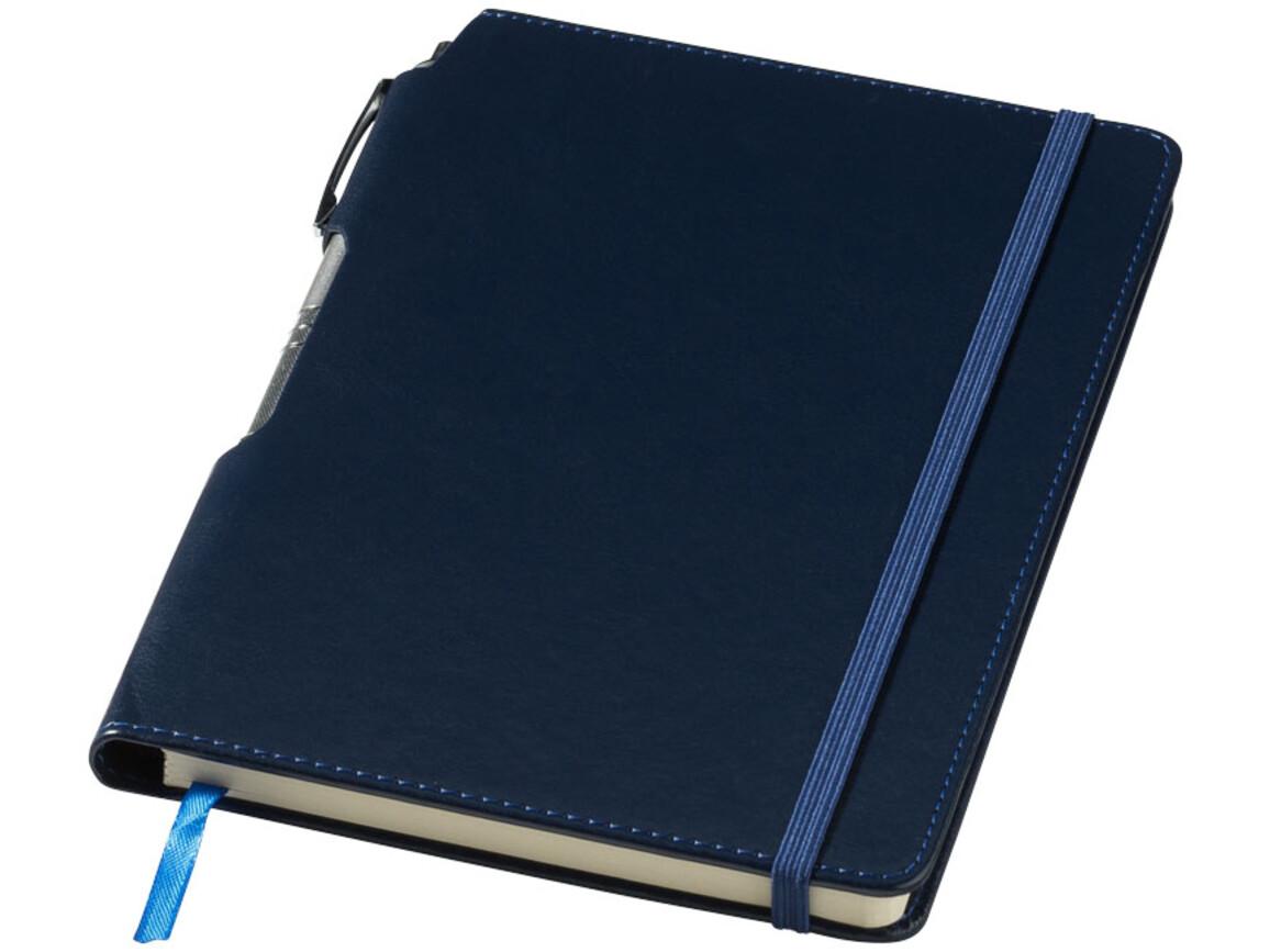 Panama A5 Hard Cover Notizbuch mit Stift, navy bedrucken, Art.-Nr. 10679601