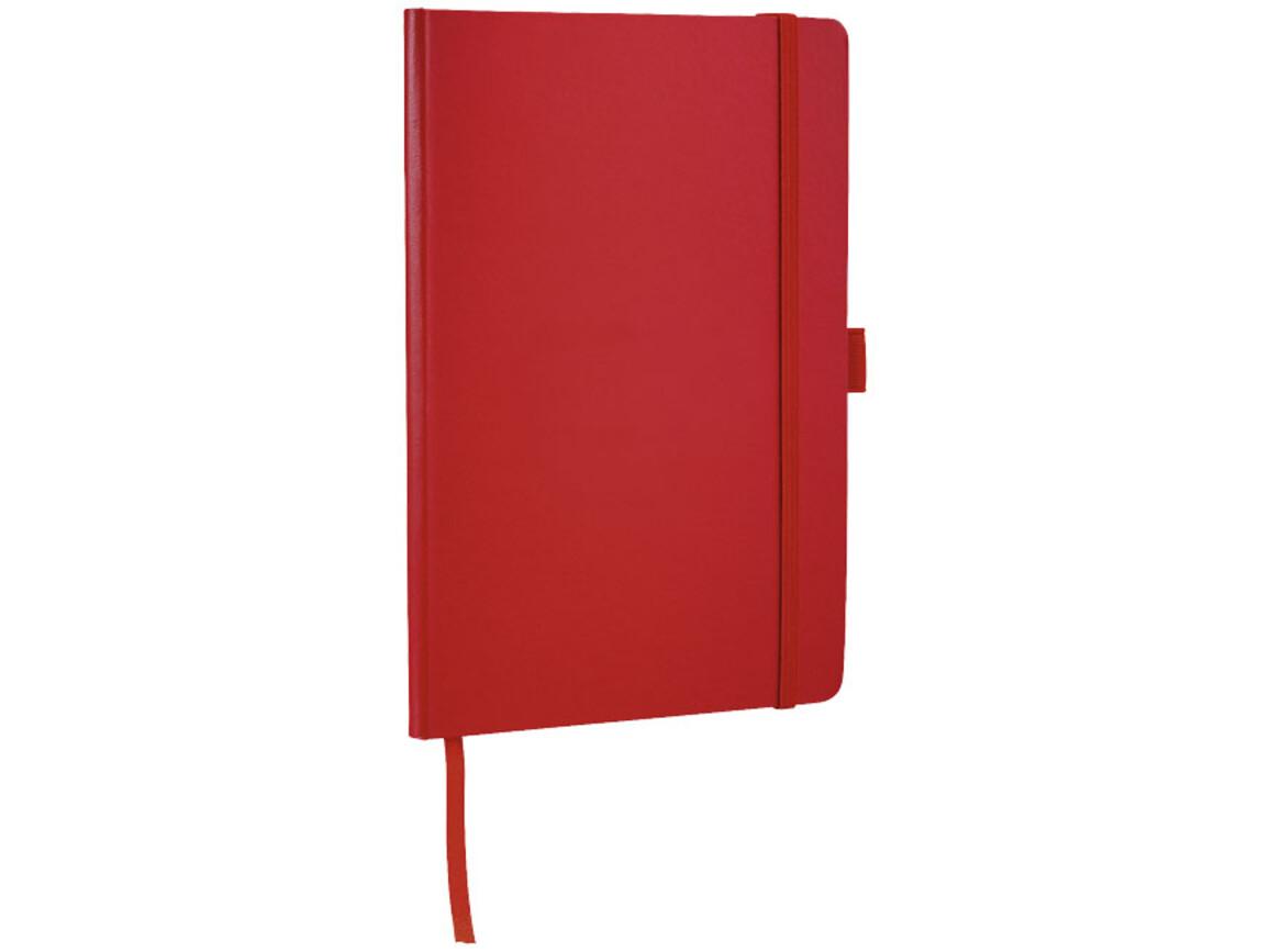 Flex A5 Notizbuch mit flexibler Rückseite, rot bedrucken, Art.-Nr. 10680802