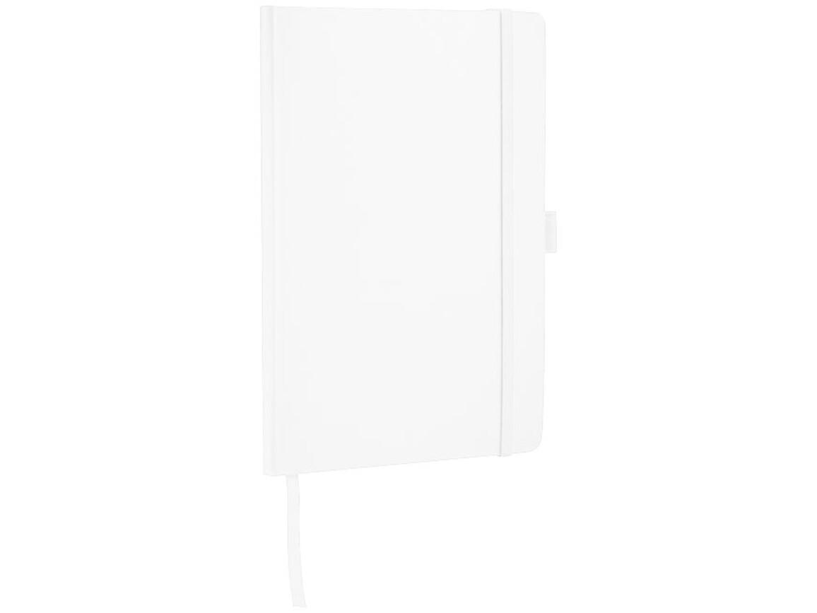 Flex A5 Notizbuch mit flexibler Rückseite, weiss bedrucken, Art.-Nr. 10680803