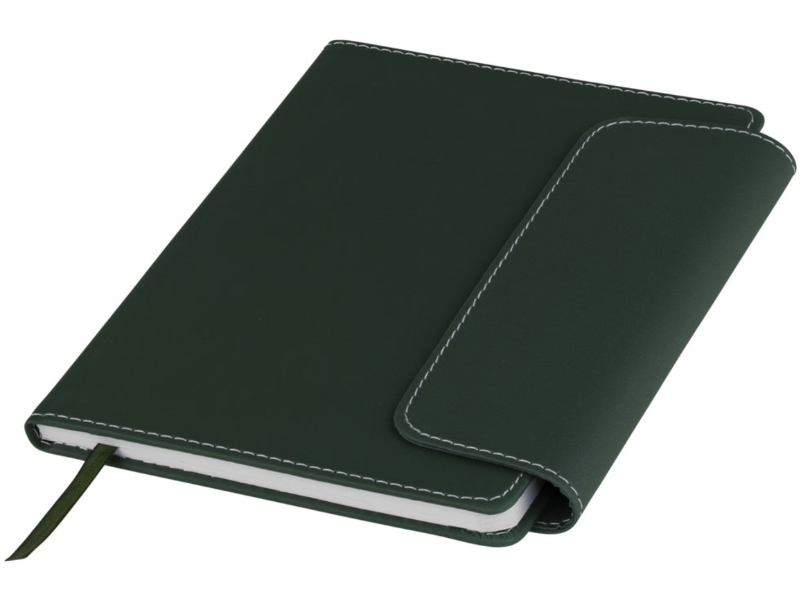 Horsens A5 Notizbuch mit Stylus Kugelschreiber, jagdgrün bedrucken, Art.-Nr. 10685103