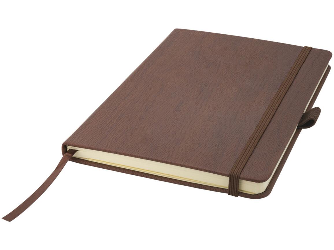 Wood-Look A5 Hard Cover Notizbuch, braun bedrucken, Art.-Nr. 10687901