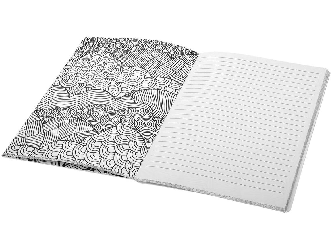 Doodle Mal-Notizbuch, weiss bedrucken, Art.-Nr. 10690600