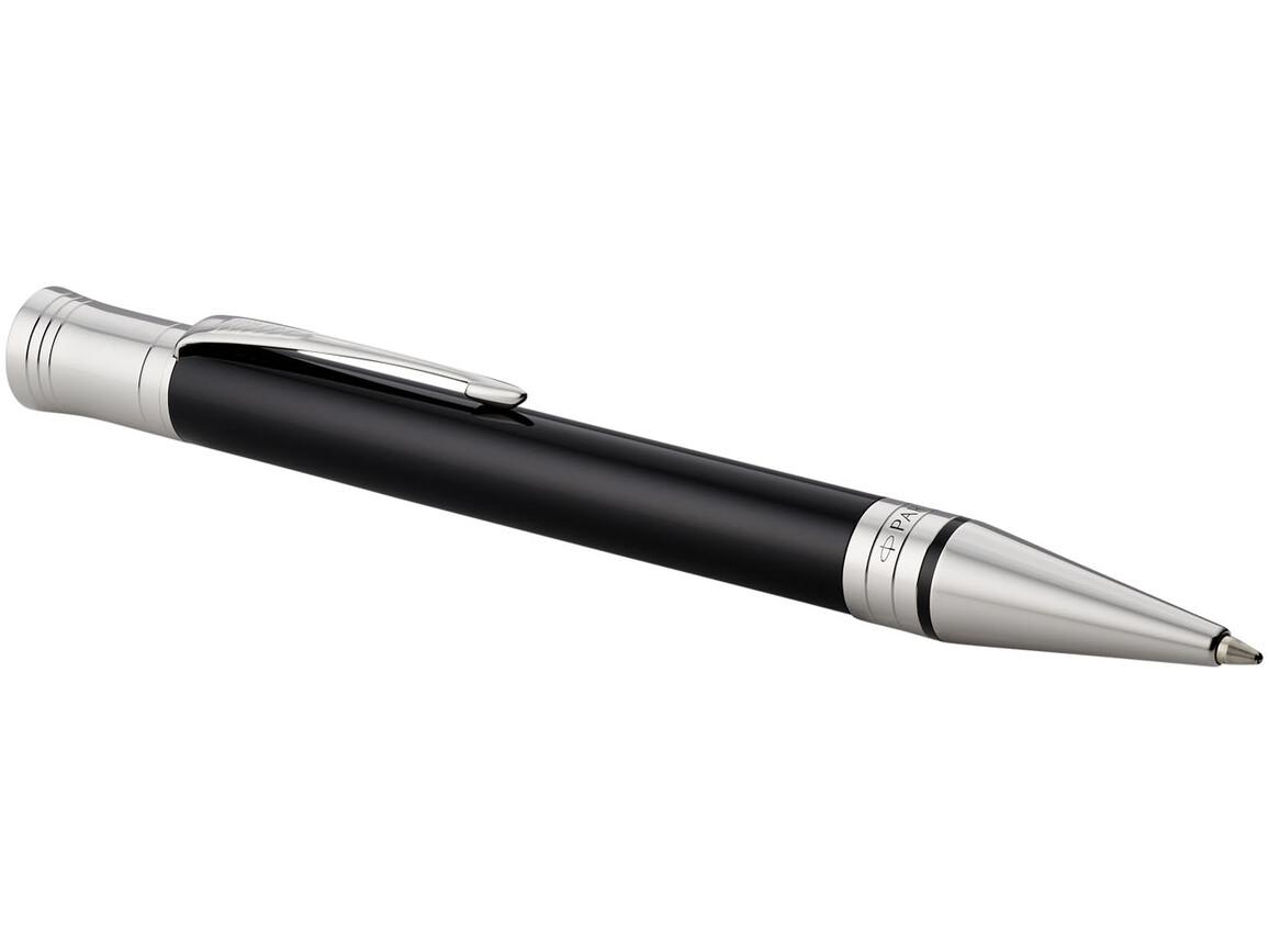 Duofold Premium Kugelschreiber, schwarz, chrom bedrucken, Art.-Nr. 10700901