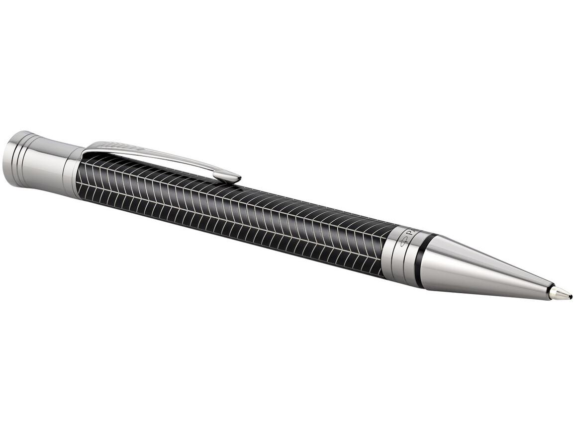 Duofold Premium Kugelschreiber, schwarz, silber bedrucken, Art.-Nr. 10700906