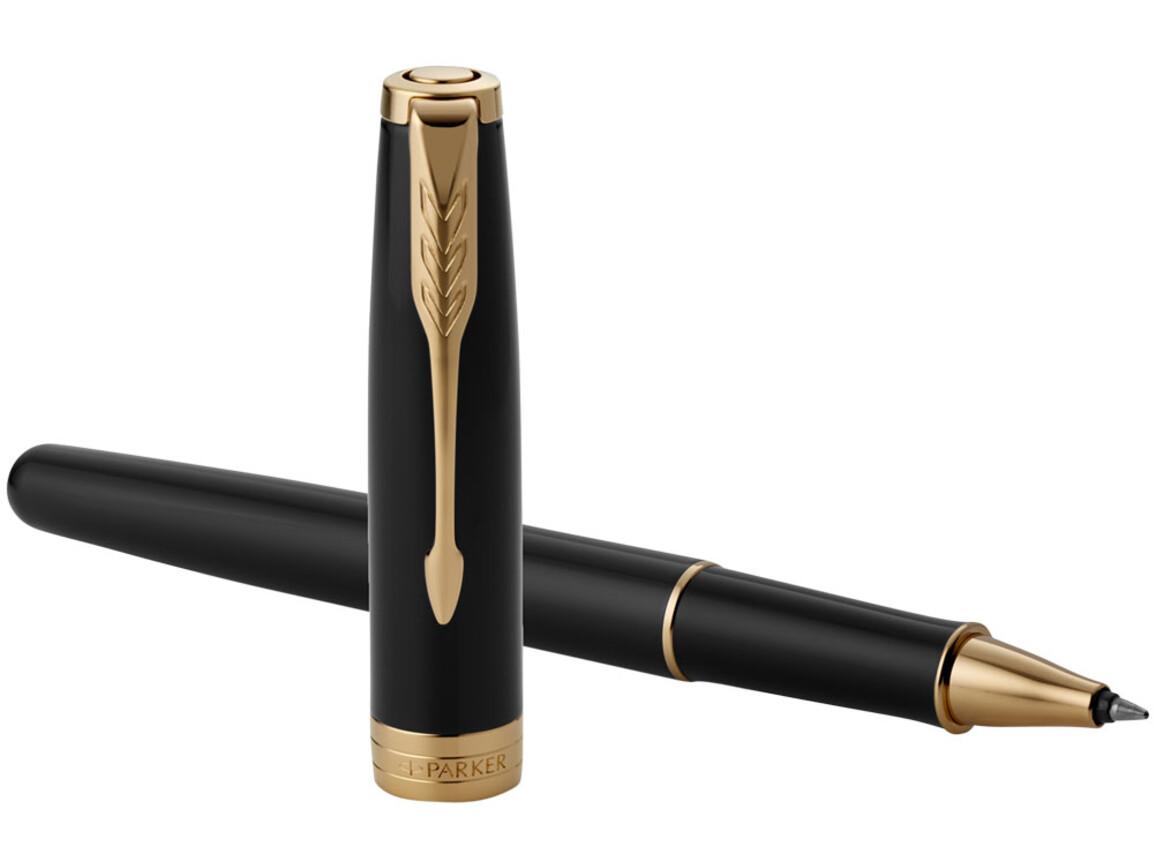 Sonnet Tintenroller, schwarz, gold bedrucken, Art.-Nr. 10701301