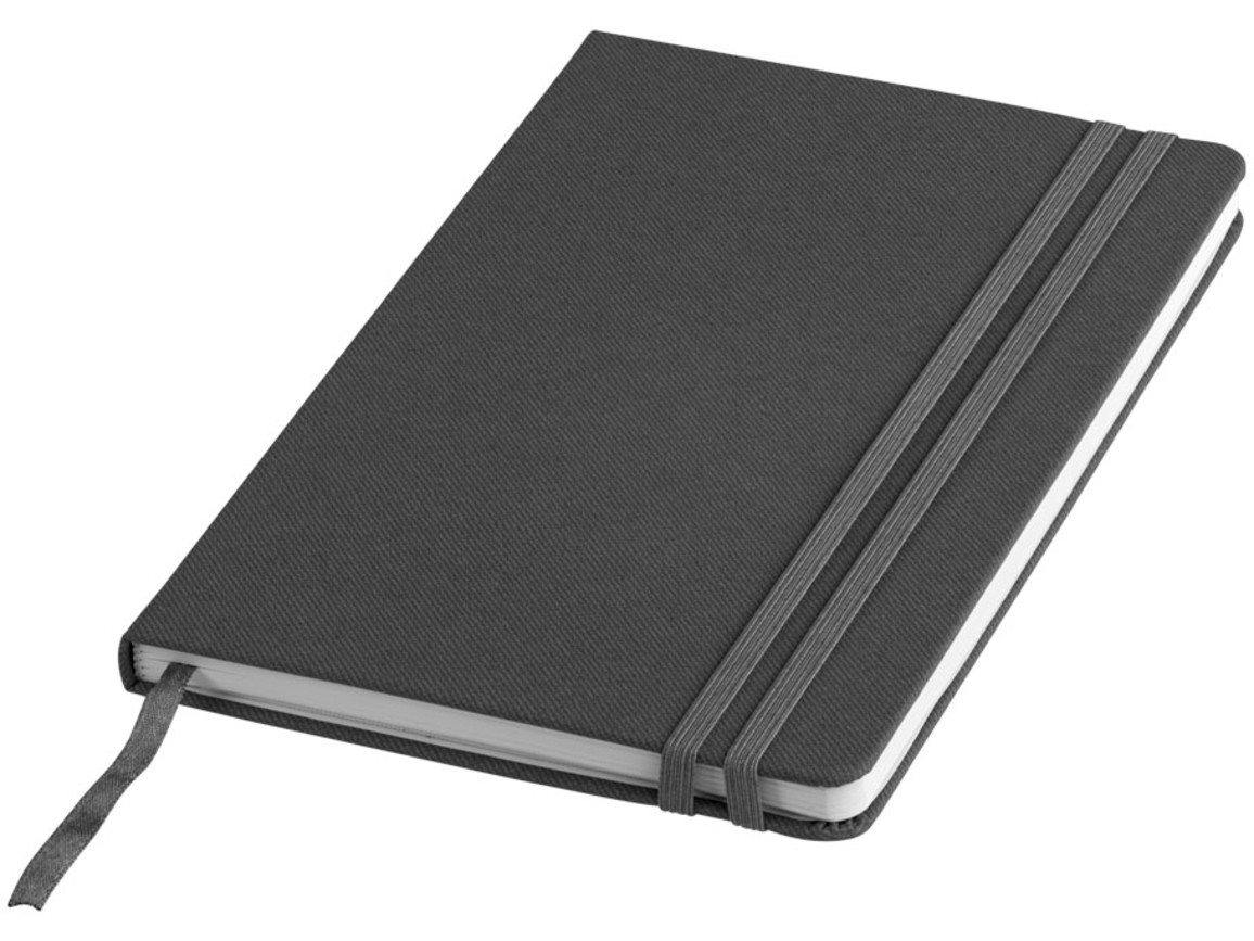 Denim A5 Hard Cover Notizbuch, grau bedrucken, Art.-Nr. 10702702