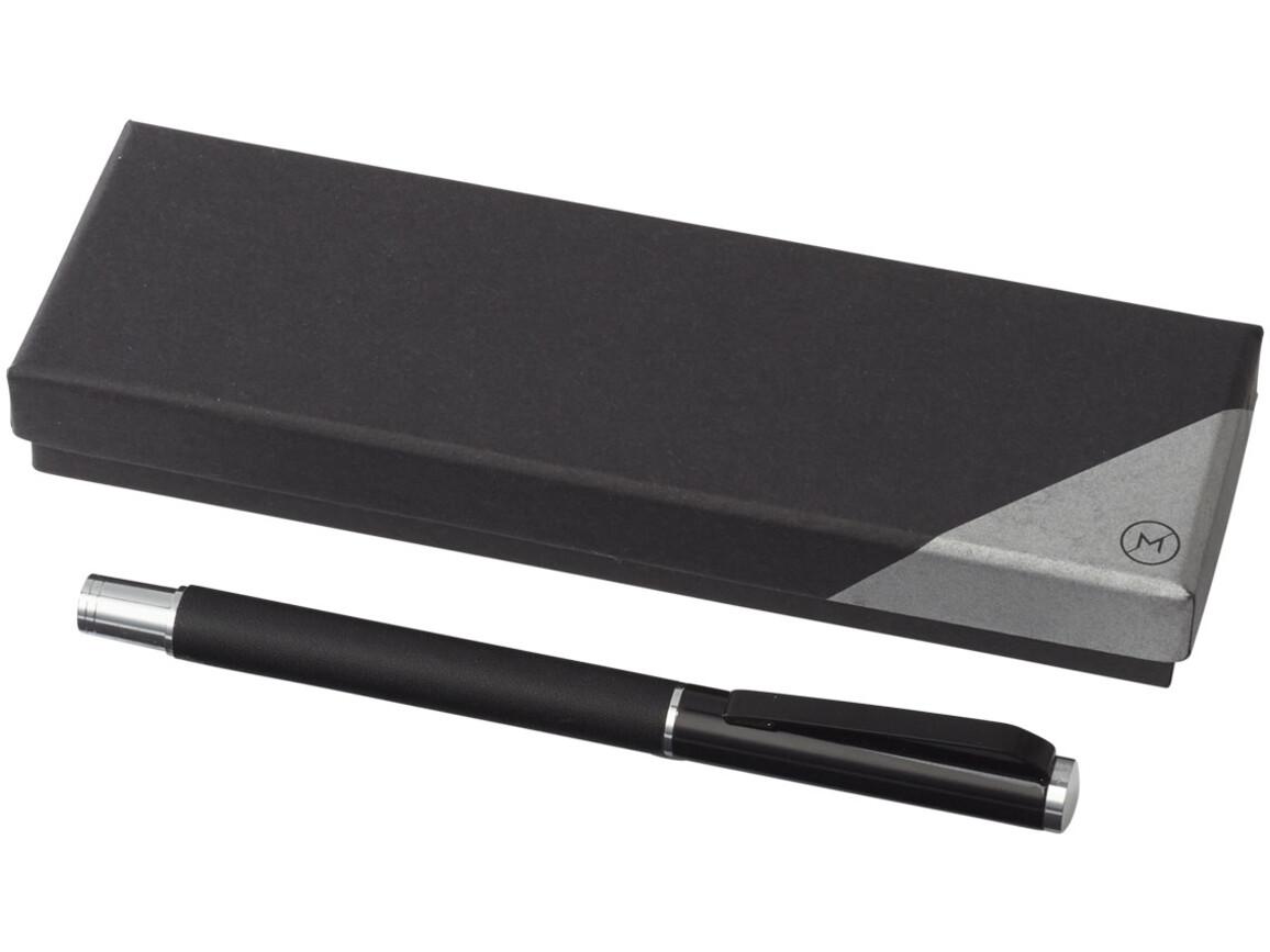 Pedova Tintenroller mit Lederschaft, schwarz bedrucken, Art.-Nr. 10703600