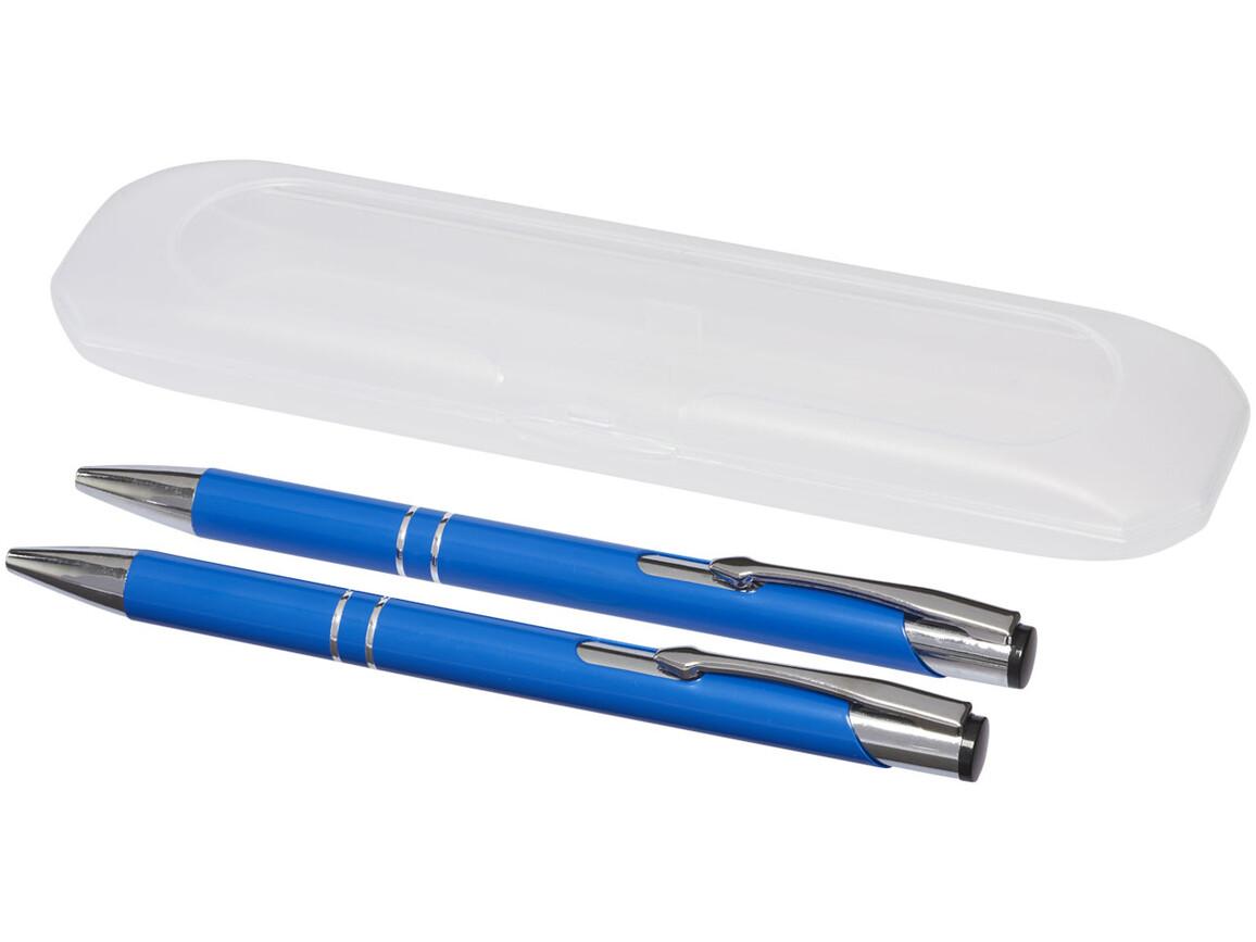 Belfast Schreibset, blau bedrucken, Art.-Nr. 10705601
