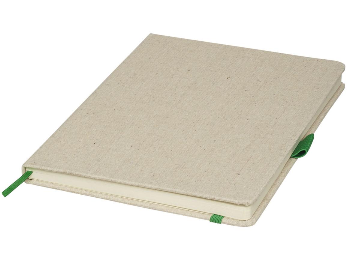 Luna A5 Canvas Notizbuch, grün bedrucken, Art.-Nr. 10707103