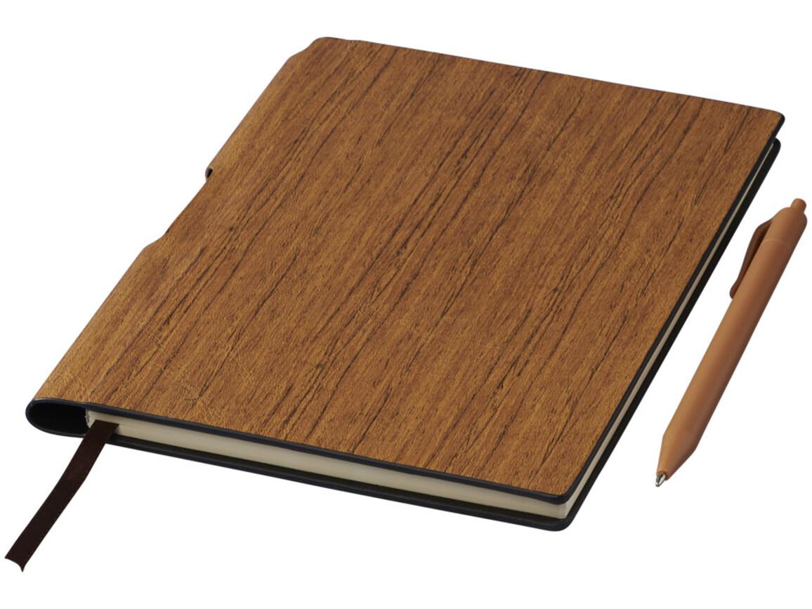 Bardi A5 Hard Cover Notizbuch, braun bedrucken, Art.-Nr. 10709301