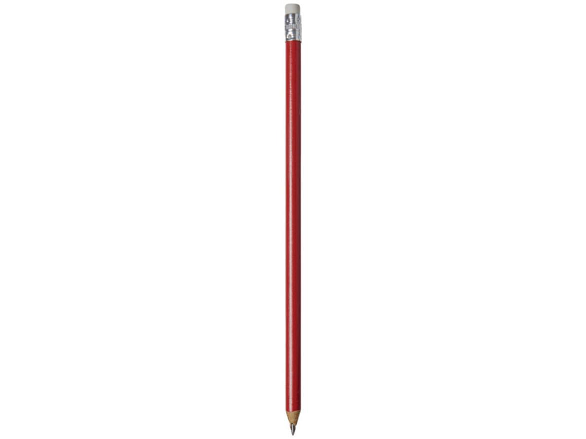 Alegra Bleistift mit farbigem Schaft, rot bedrucken, Art.-Nr. 10709805