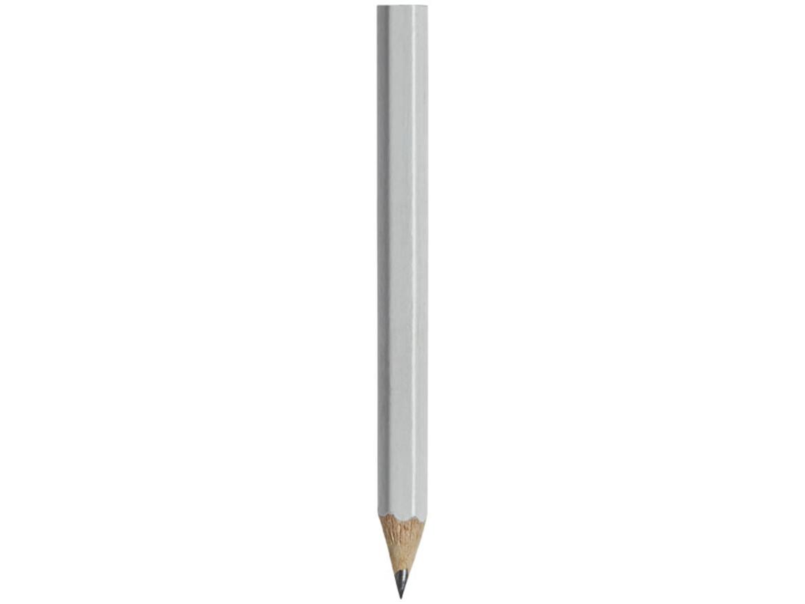 Cosimo Mini Bleistift mit farbigem Schaft, weiss bedrucken, Art.-Nr. 10710001