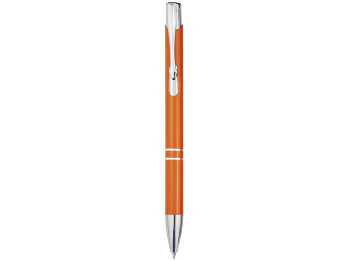 Moneta Druckkugelschreiber aus Aluminium, orange bedrucken, Art.-Nr. 10710508