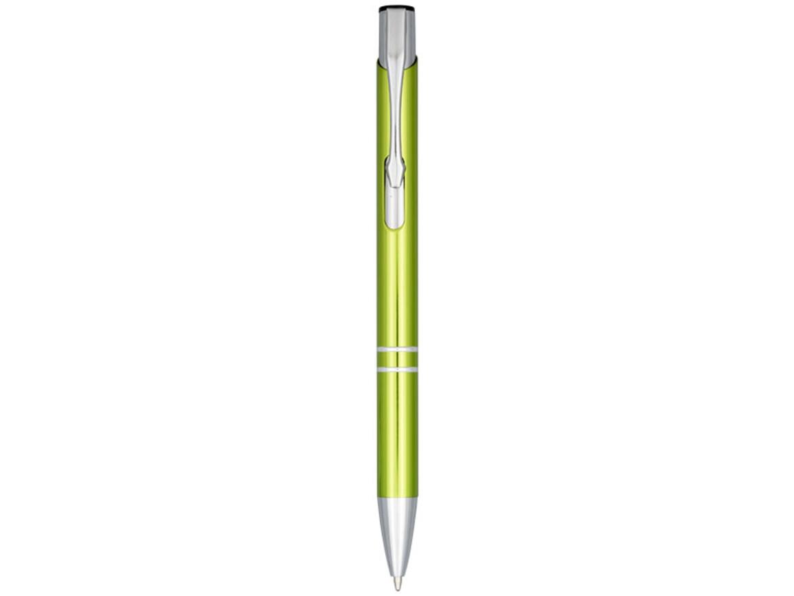 Moneta Druckkugelschreiber aus eloxierterm Aluminium, limone bedrucken, Art.-Nr. 10716306