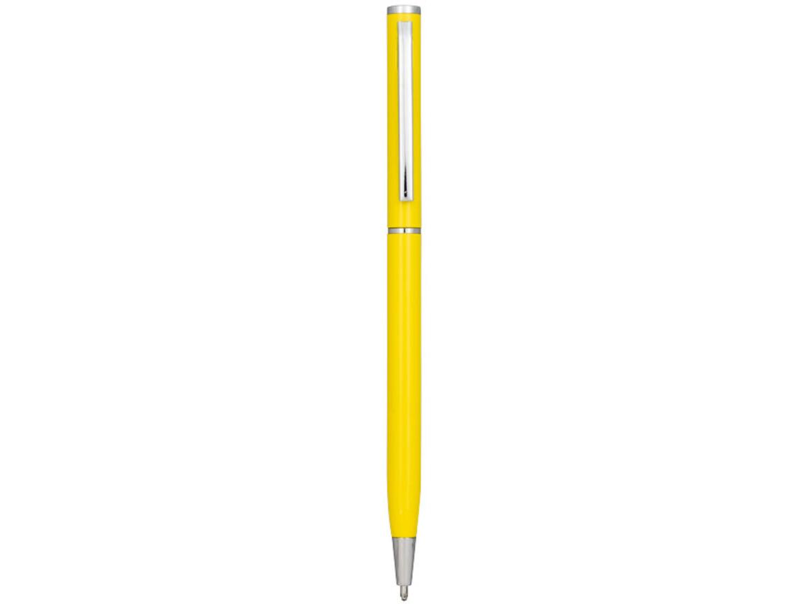 Slim Aluminium Kugelschreiber, gelb bedrucken, Art.-Nr. 10720105