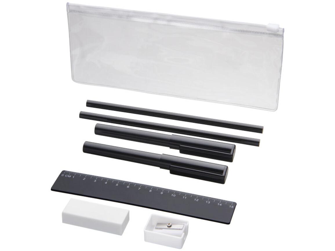 Mindy 8-teiliges Federmäppchen-Set, schwarz bedrucken, Art.-Nr. 10722100