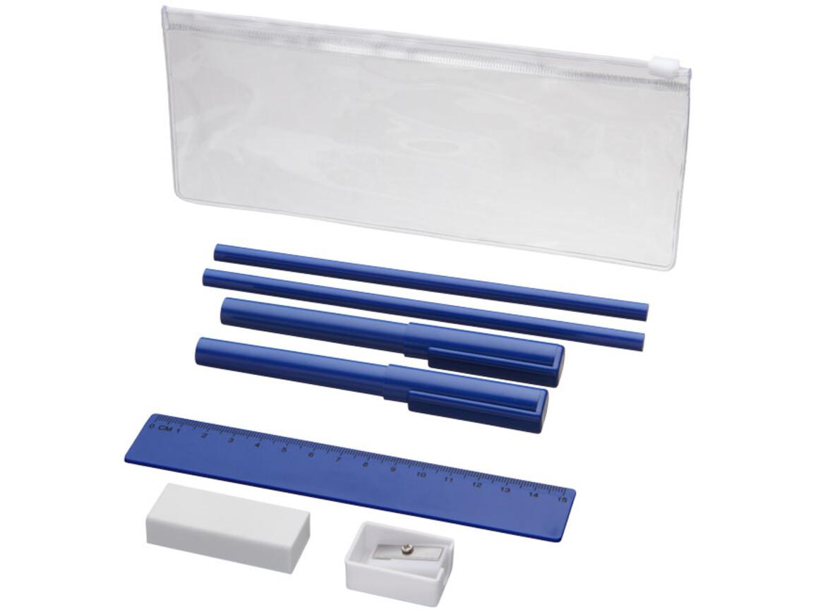 Mindy 8-teiliges Federmäppchen-Set, blau bedrucken, Art.-Nr. 10722101