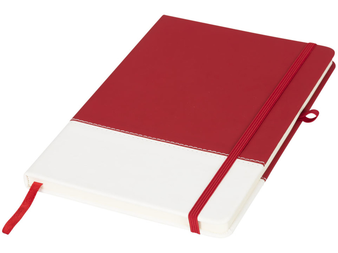 Two-tone A5 farbiges Notizbuch, rot bedrucken, Art.-Nr. 10722902