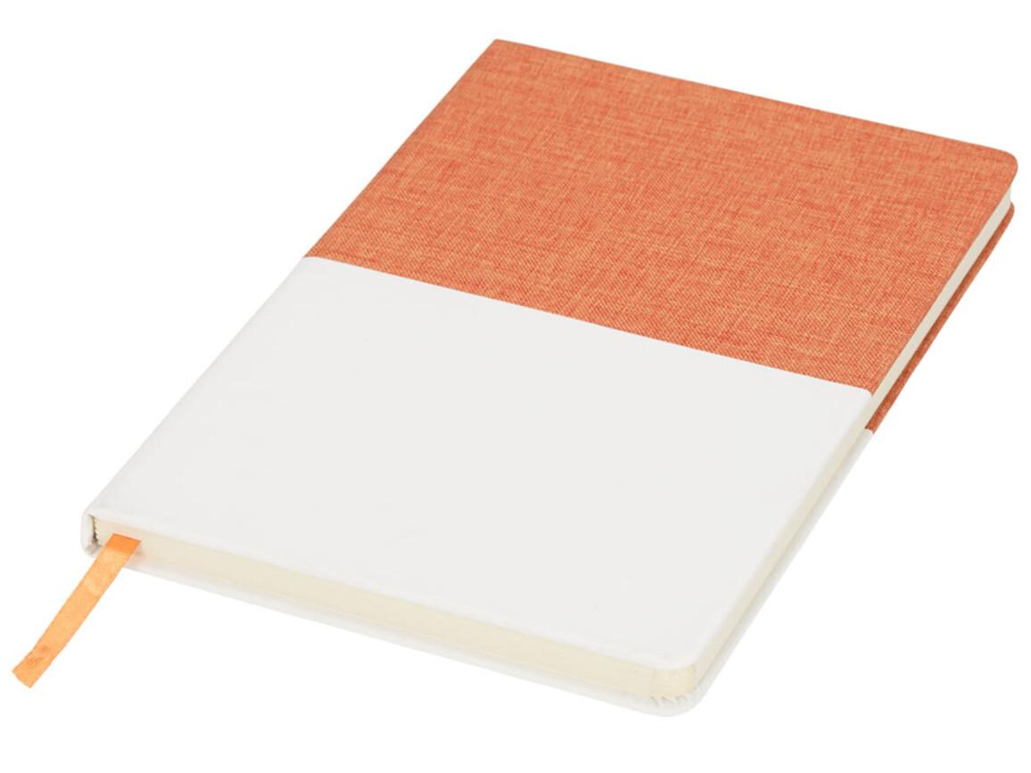 Two-tone A5 Canvas Notizbuch, orange bedrucken, Art.-Nr. 10723604