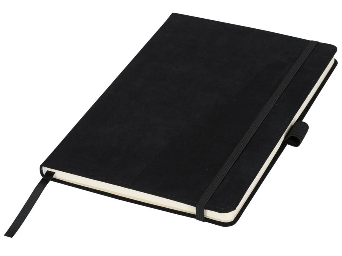 Carbony A5 Suede Notizbuch, schwarz bedrucken, Art.-Nr. 10725700