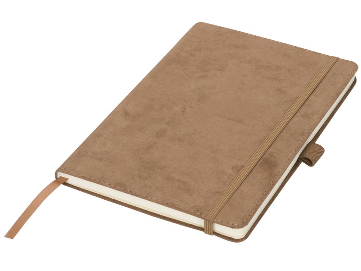 Carbony A5 Suede Notizbuch, braun bedrucken, Art.-Nr. 10725701