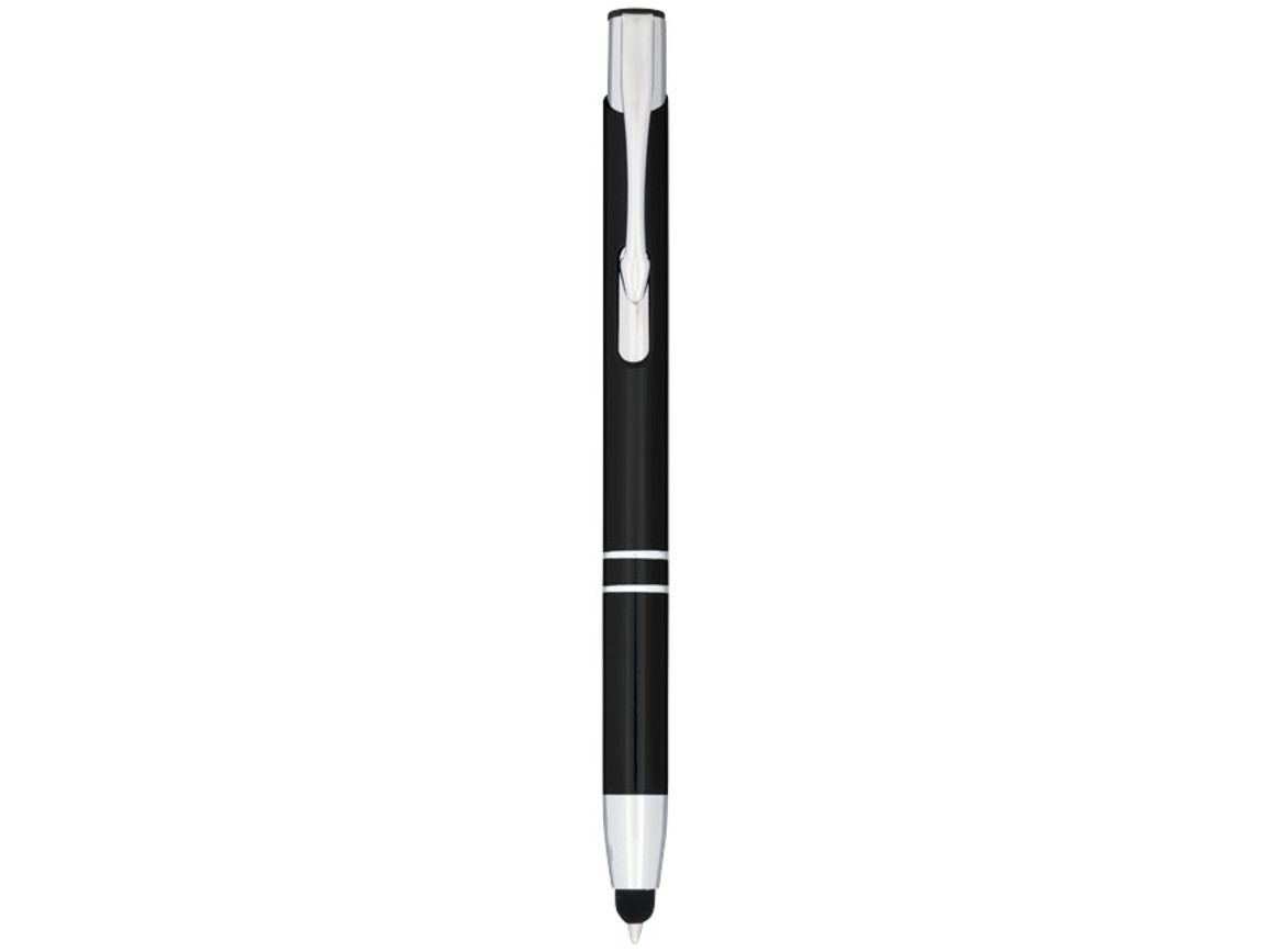 Moneta Kugelschreiber mit Metall Touchpen, schwarz bedrucken, Art.-Nr. 10729800