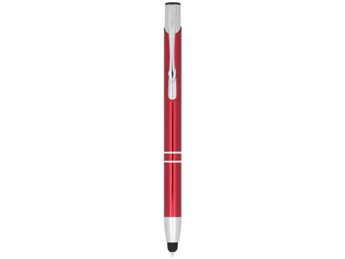 Moneta Kugelschreiber mit Metall Touchpen, rot bedrucken, Art.-Nr. 10729809