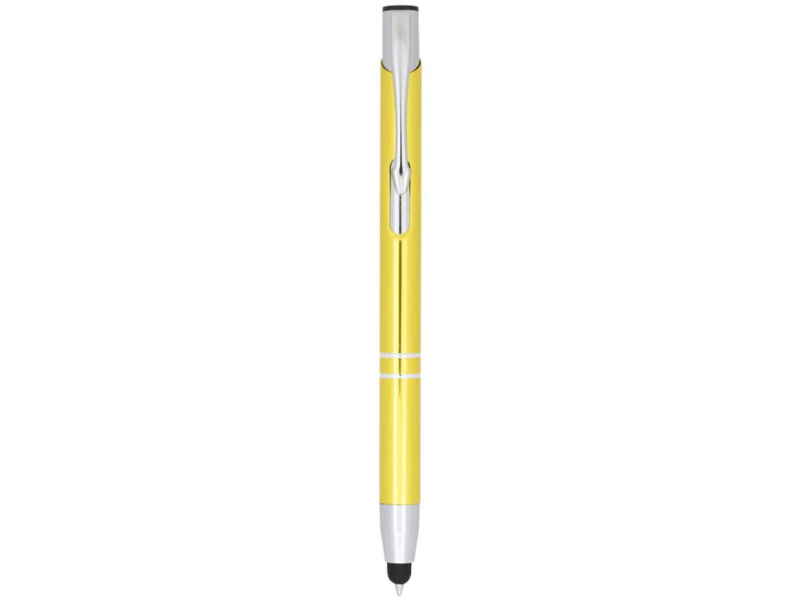Moneta Kugelschreiber mit Metall Touchpen, gelb bedrucken, Art.-Nr. 10729810
