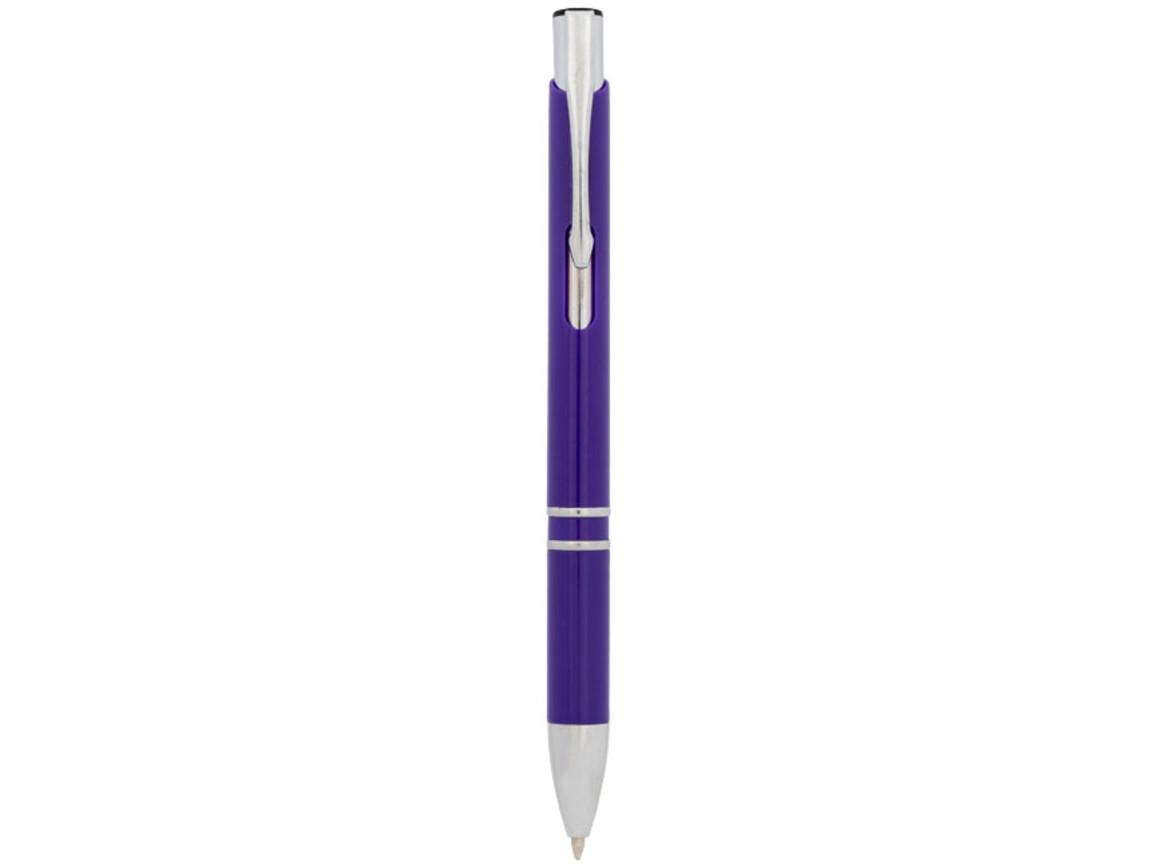 Moneta Druckkugelschreiber aus ABS-Kunststoff, lila bedrucken, Art.-Nr. 10729911