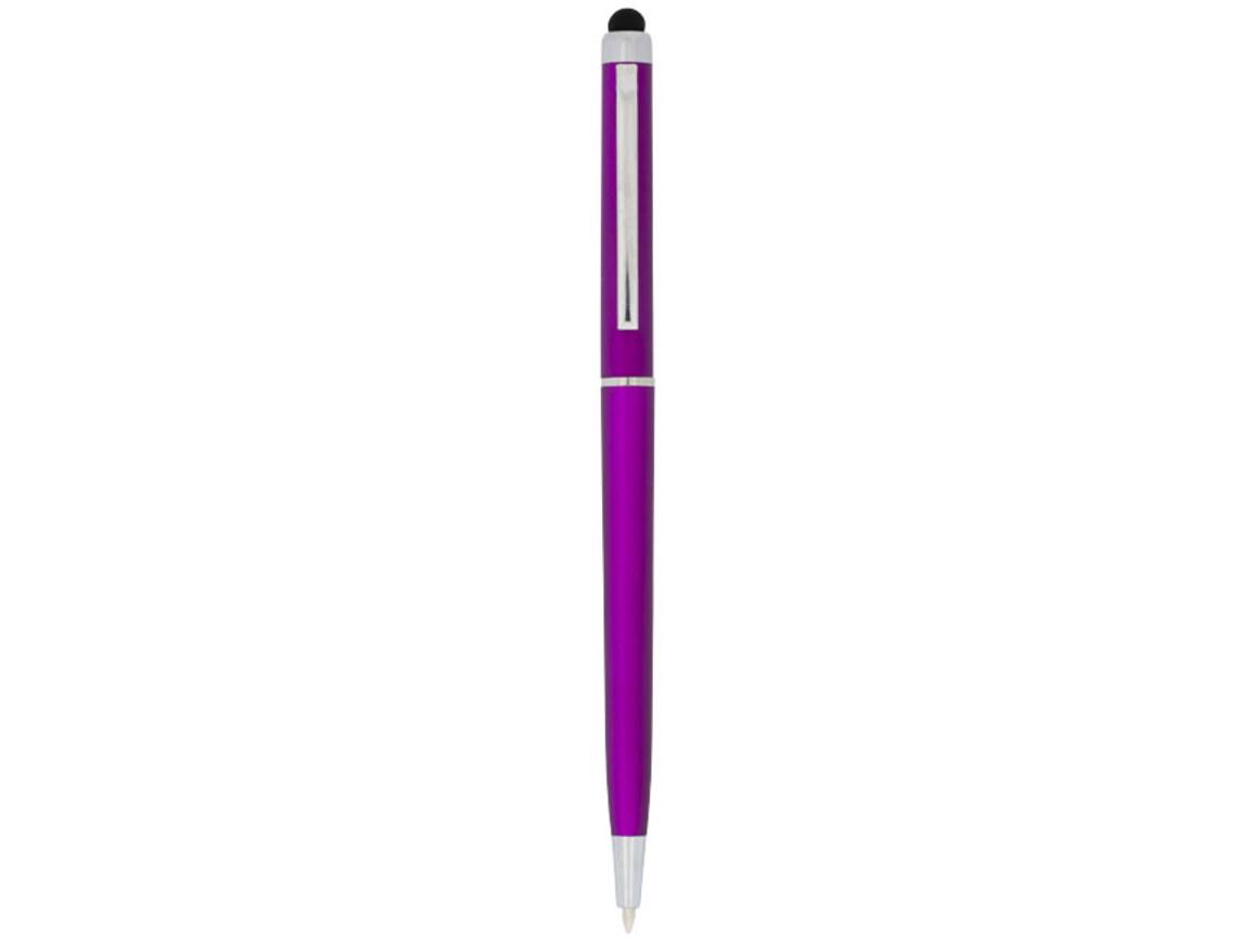 Valeria ABS Kugelschreiber mit Stylus, rosa bedrucken, Art.-Nr. 10730005