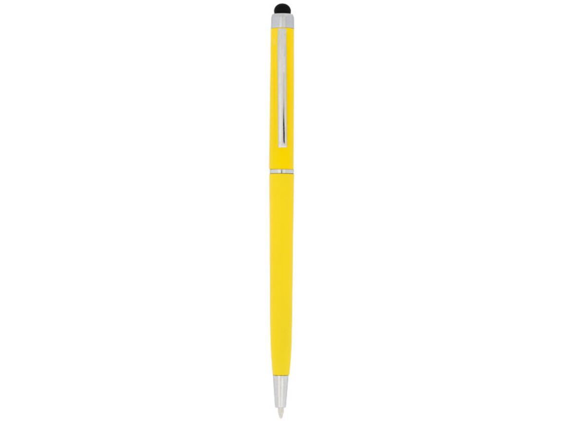 Valeria ABS Kugelschreiber mit Stylus, gelb bedrucken, Art.-Nr. 10730006