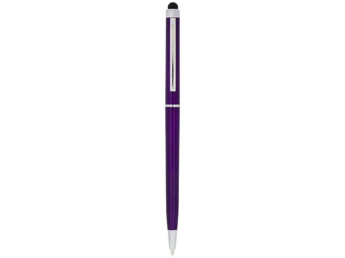 Valeria ABS Kugelschreiber mit Stylus, lila bedrucken, Art.-Nr. 10730007