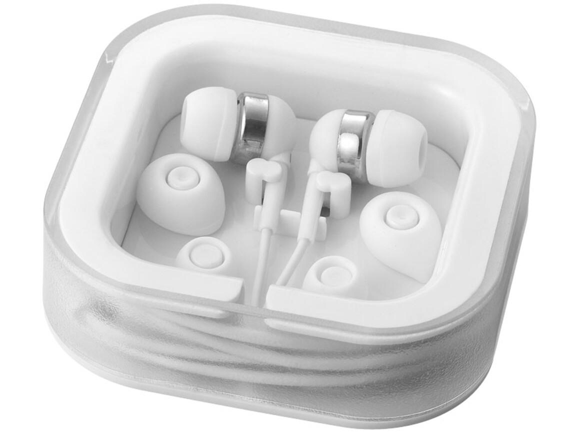 Sargas leichte Ohrhörer, weiss bedrucken, Art.-Nr. 10812801