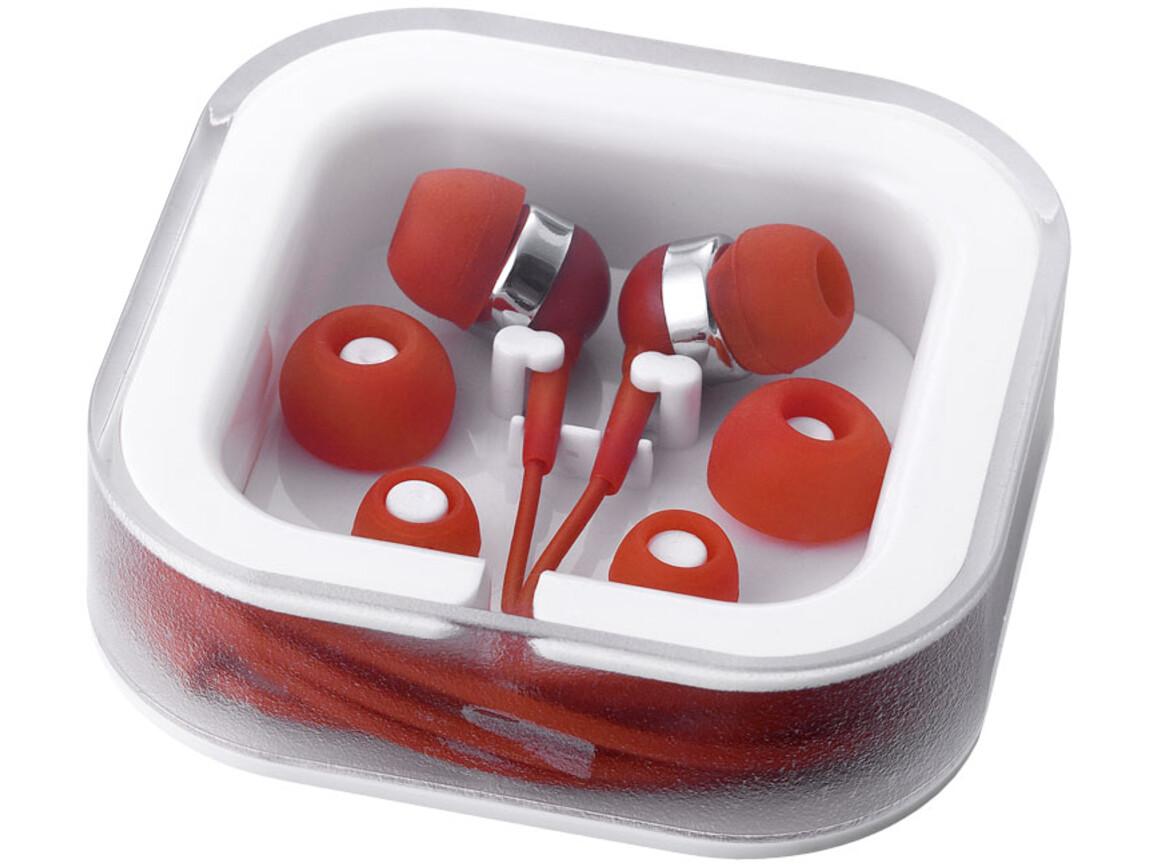 Sargas leichte Ohrhörer, rot bedrucken, Art.-Nr. 10812802