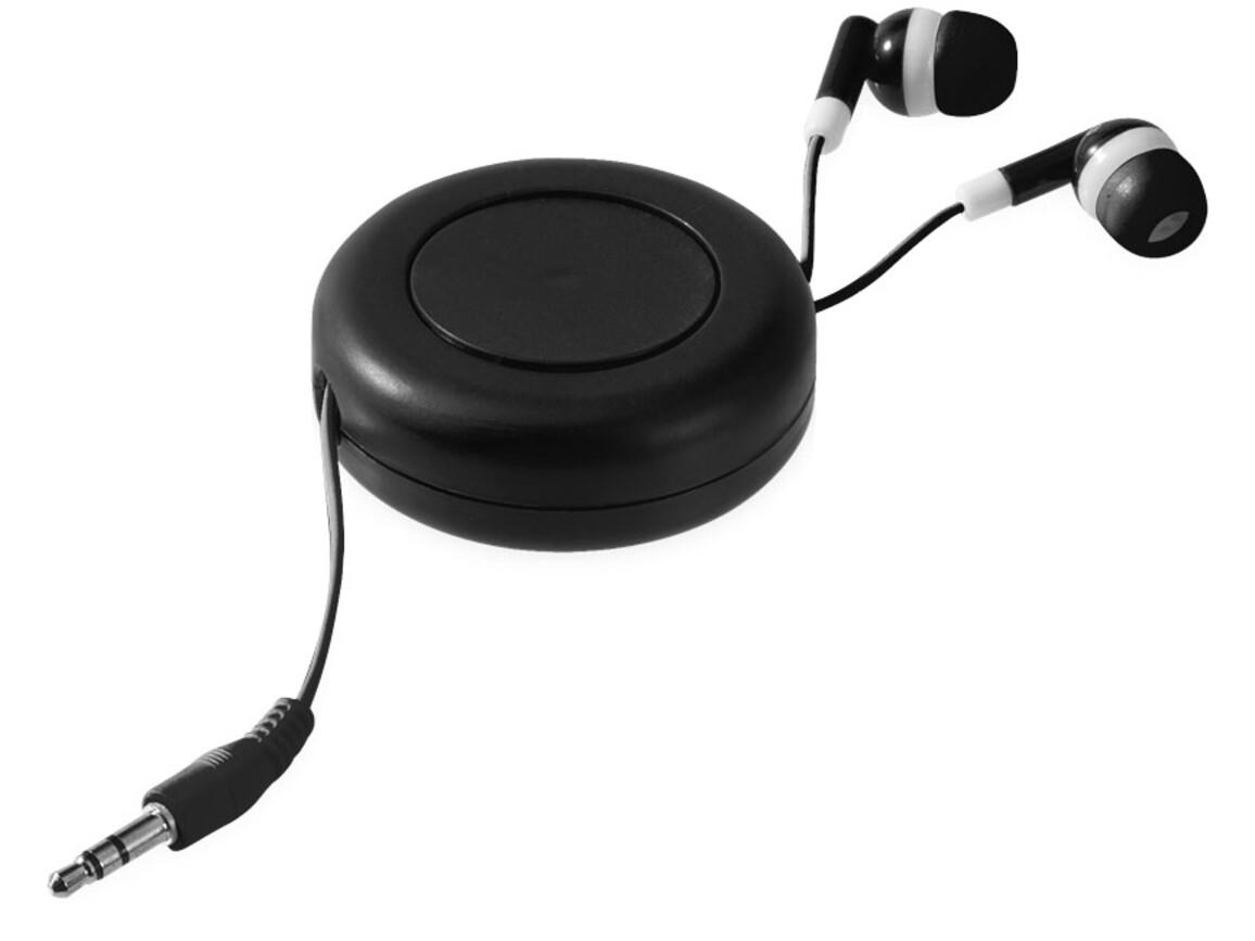 Reely Ohrhörer mit einziehbarem Kabel, schwarz bedrucken, Art.-Nr. 10823500