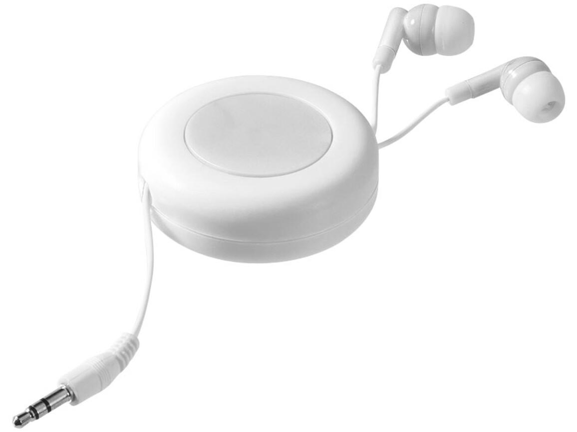 Reely Ohrhörer mit einziehbarem Kabel, weiss bedrucken, Art.-Nr. 10823503