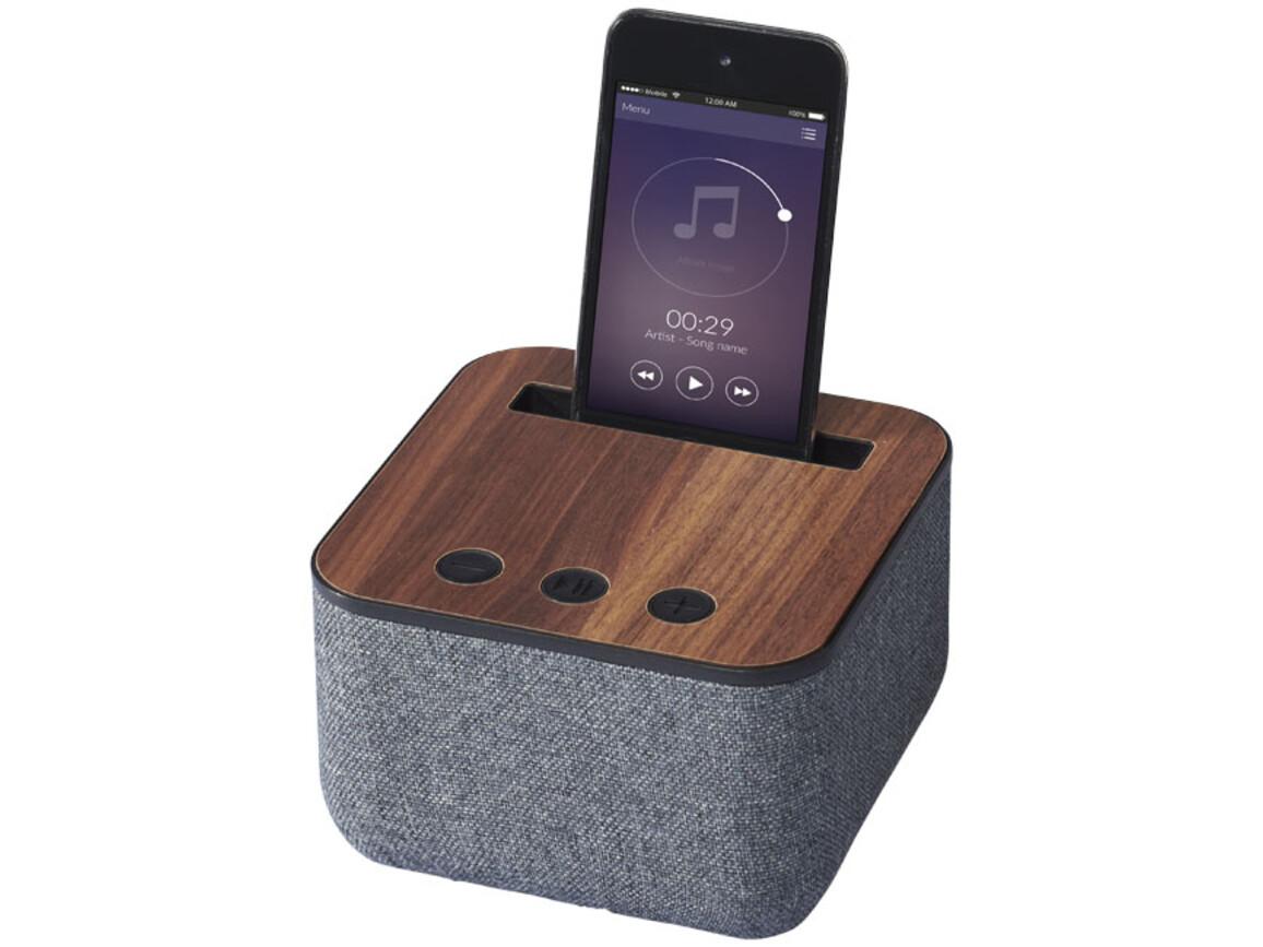Shae Stoff und Holz Bluetooth® Lautsprecher, holz bedrucken, Art.-Nr. 10831300
