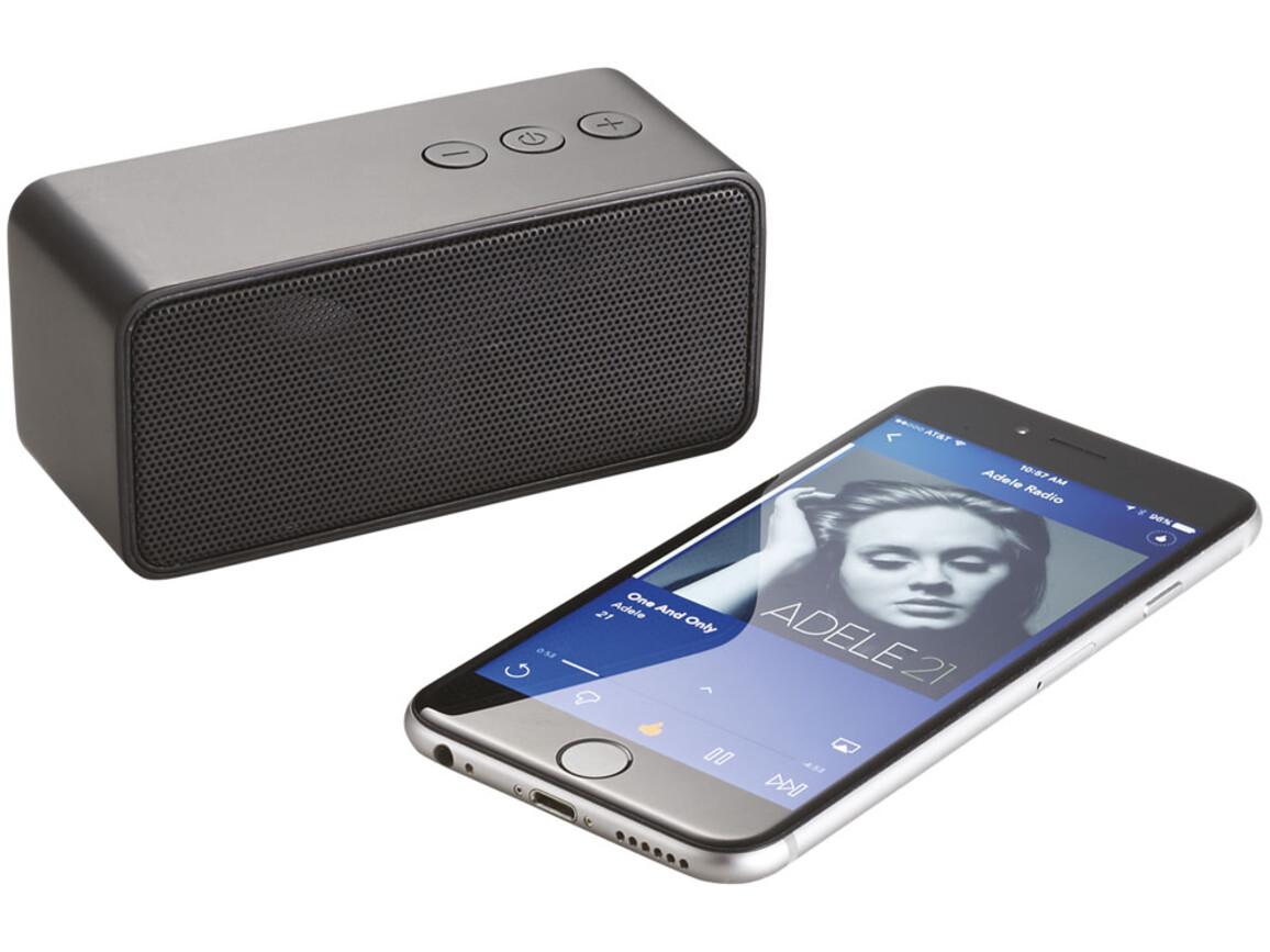 Stark tragbarer Bluetooth® Lautsprecher, schwarz bedrucken, Art.-Nr. 10831500