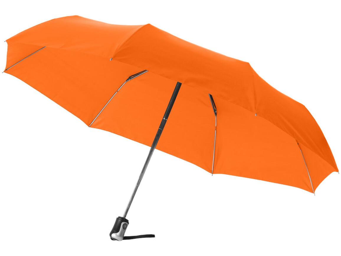 "Alex 21,5"" Vollautomatik Kompaktregenschirm, orange bedrucken, Art.-Nr. 10901611"