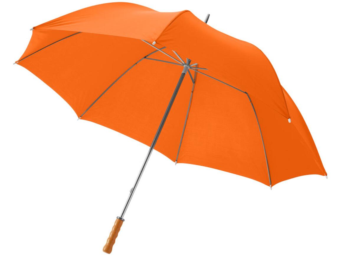 """Karl 30"""" Golfschirm mit Holzgriff, orange bedrucken, Art.-Nr. 10901805"""