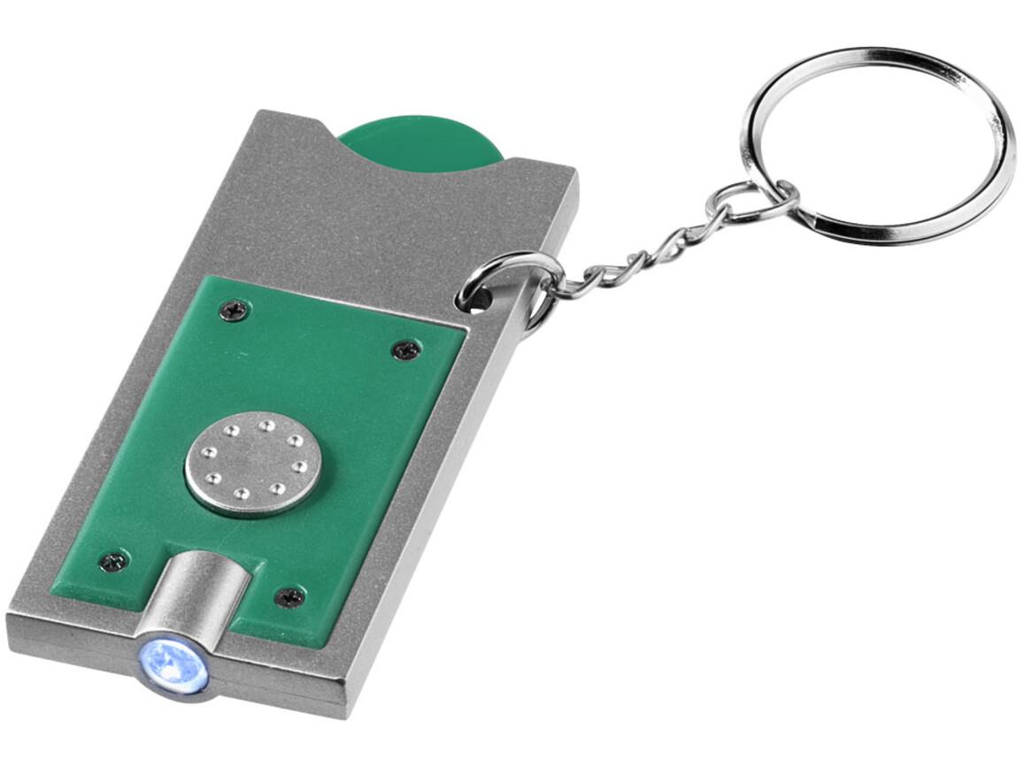 Allegro LED-Schlüssellicht mit Münzhalter, grün, silber bedrucken, Art.-Nr. 11809608