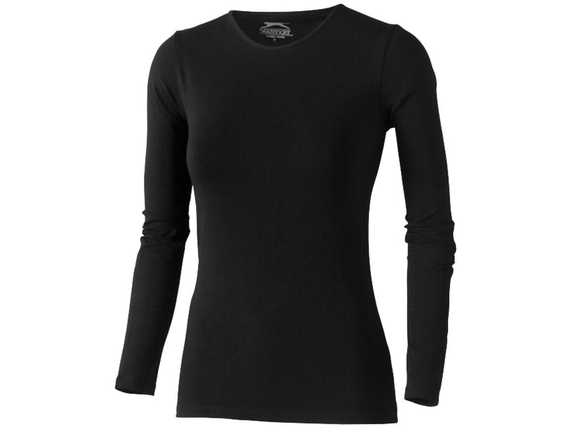Curve – Langarmshirt für Damen, schwarz bedrucken, Art.-Nr. 33014992