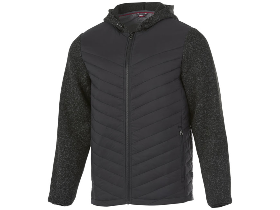Hutch Hybrid-Thermojacke für Herren, heather rauchgrau bedrucken, Art.-Nr. 33348973