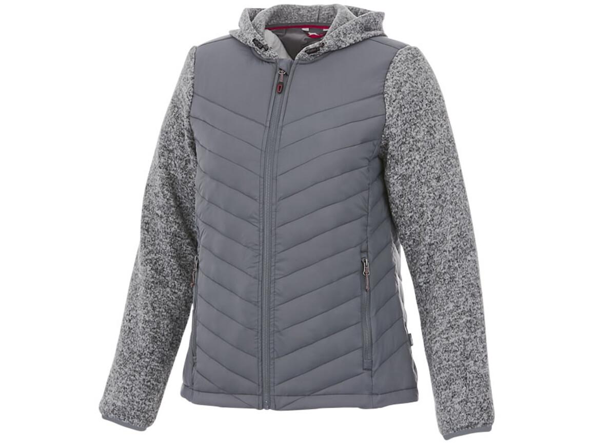 Hutch Hybrid-Thermojacke für Damen, grau bedrucken, Art.-Nr. 33349902