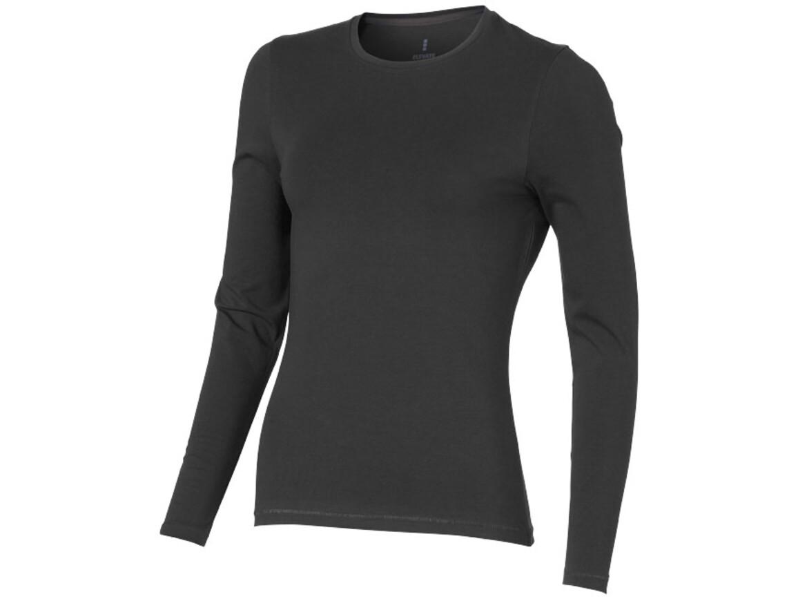 Ponoka Langarmshirt für Damen, anthrazit bedrucken, Art.-Nr. 38019950