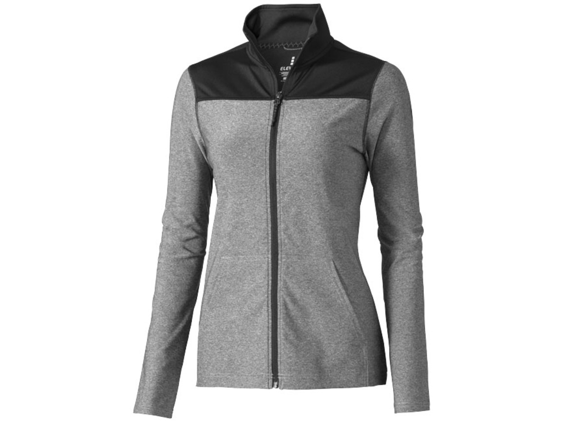 Perren Damen Funktionsjacke, heather grau bedrucken, Art.-Nr. 39491944