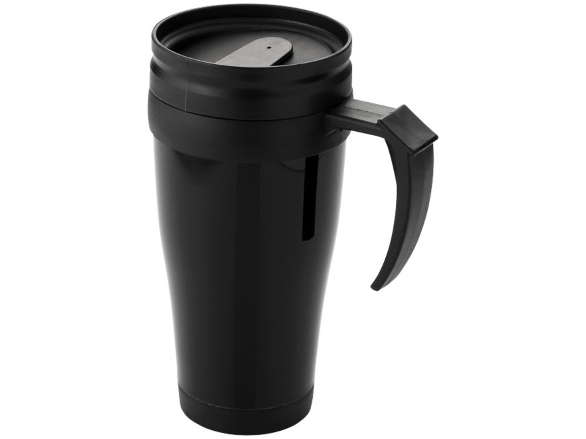 Daytona 400 ml Isolierbecher, schwarz bedrucken, Art.-Nr. 19538718