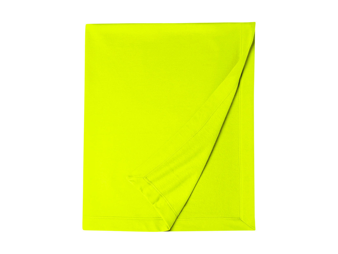 Gildan Gildan DryBlend® Fleece Stadium Blanket, Safety Green, One Size bedrucken, Art.-Nr. 001095110