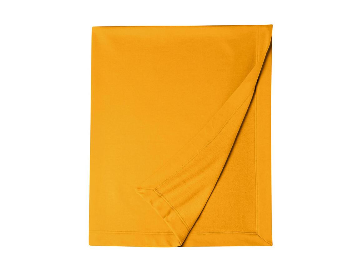 Gildan Gildan DryBlend® Fleece Stadium Blanket, Gold, One Size bedrucken, Art.-Nr. 001096430